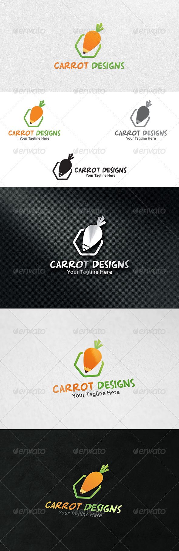 GraphicRiver Carrot Designs Logo Template 6553432