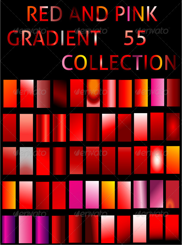 GraphicRiver Illustrator Red Gradient Collection 6553457