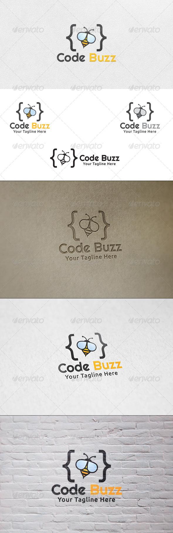 GraphicRiver Code Buzz Logo Template 6553607