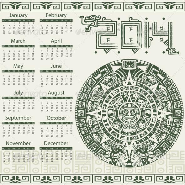 GraphicRiver Mayan Calendar 2014 6553861