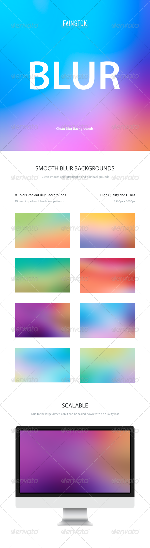GraphicRiver 8 Smooth Gradient Blur Backgrounds 6553862