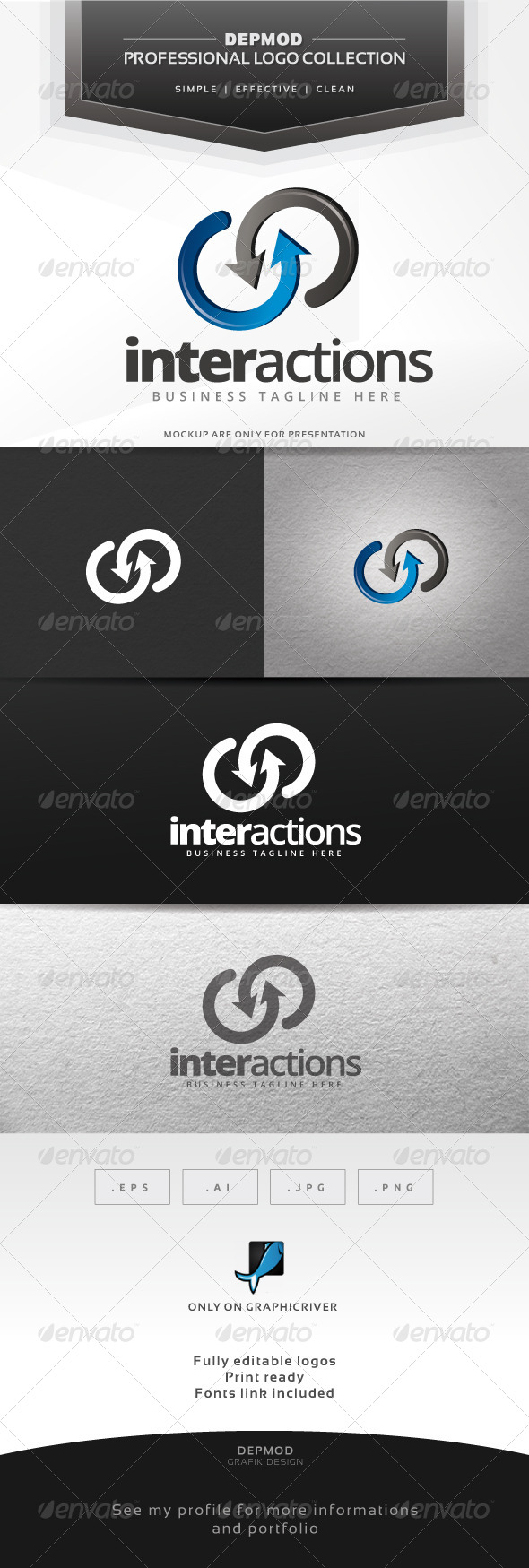 GraphicRiver Interactions Logo 6553867