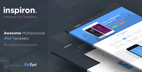 ThemeForest inspiron Awesome Multipurpose PSD Template 6548662