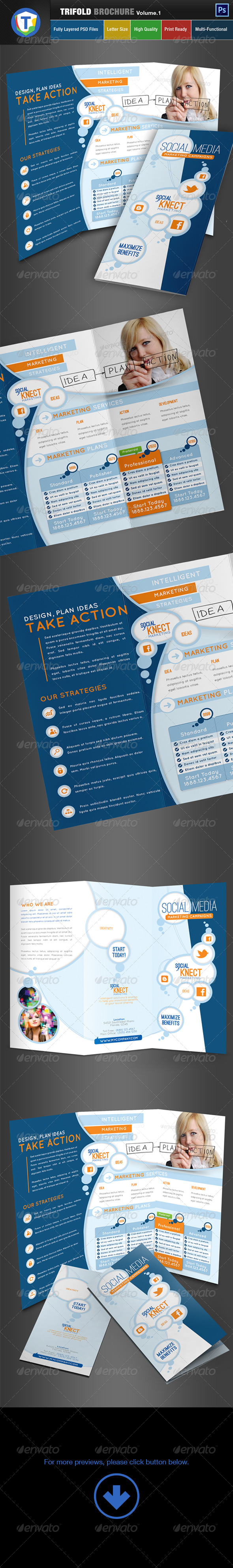 GraphicRiver Social Media Trifold Brochure Volume 1 6523563