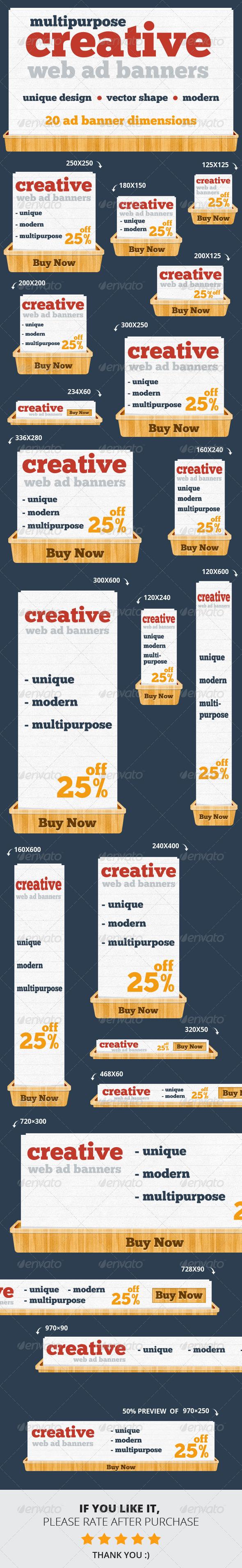 GraphicRiver Creative & Unique Web Ad Banners Multipurpose 6554061