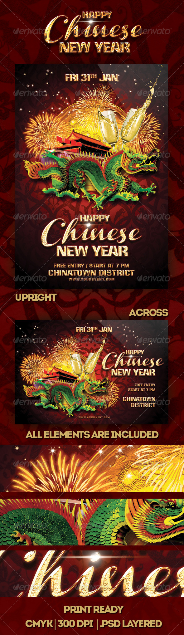 GraphicRiver Happy Chinese New Year Flyer 6524423