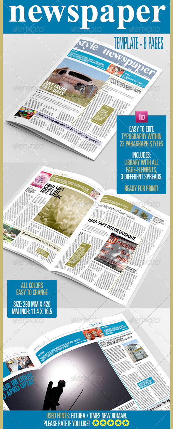 GraphicRiver 8 Pages Newspaper 6554120