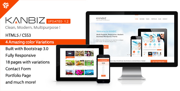 Kanbiz - Modern Multi-Purpose HTML Template