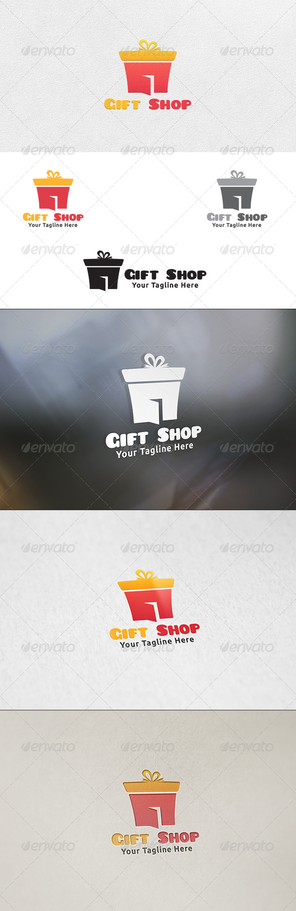 GraphicRiver Gift Shop Logo Template 6554473