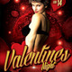 Valentines Night Flyer Template - GraphicRiver Item for Sale