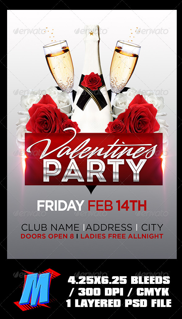 GraphicRiver Valentine s Party Flyer Template 6554662
