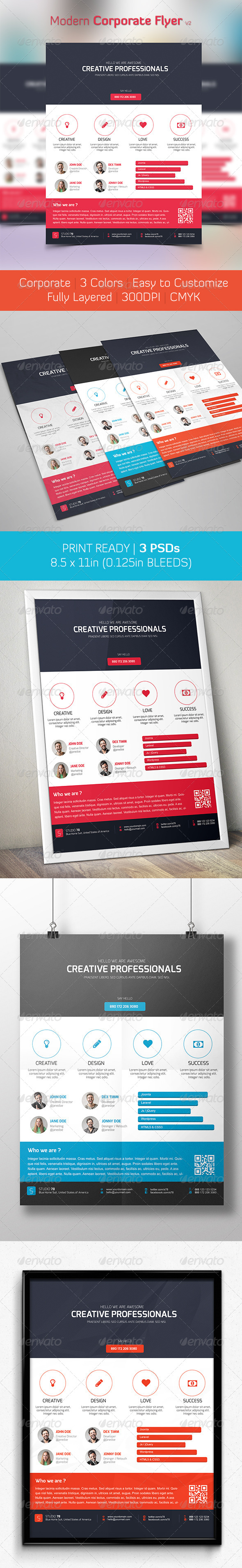 GraphicRiver Modern Corporate Flyer V2 6488360