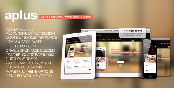Aplus - Multipurpose Wordpress Theme