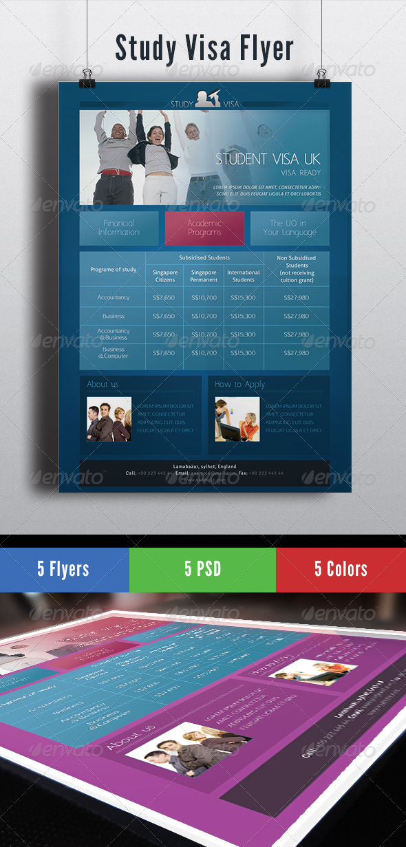 GraphicRiver Study Visa Flyer 6554763