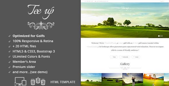 ThemeForest Tee Up Golf HTML5 Template 6524603