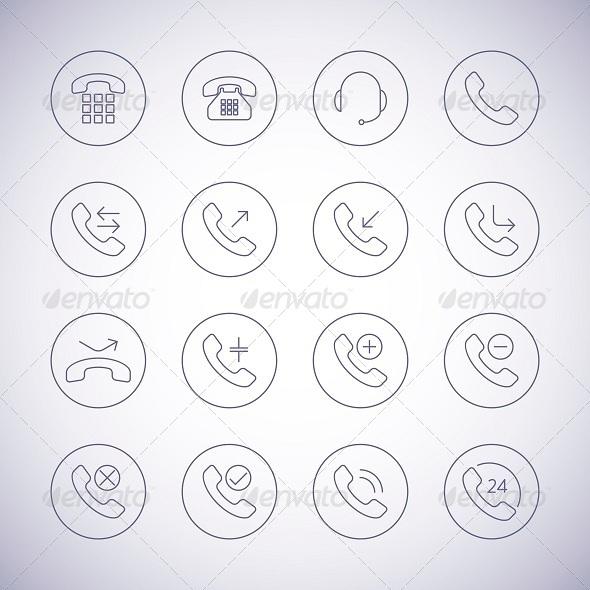 GraphicRiver Phone Icons Set 6525481