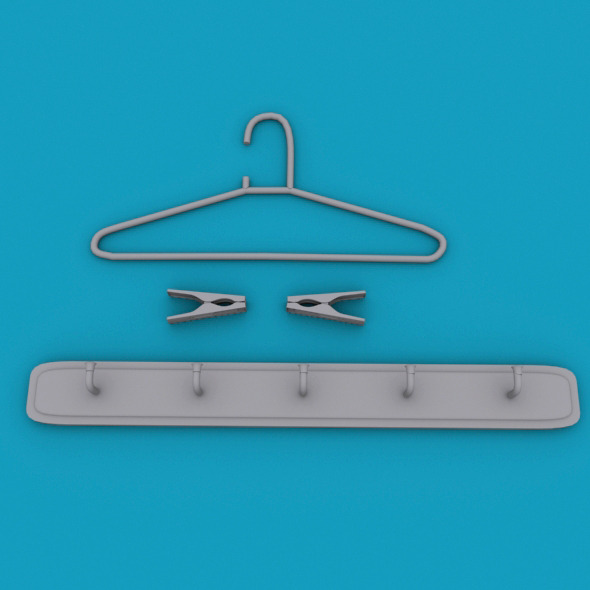 3DOcean cloth hanger 6555012