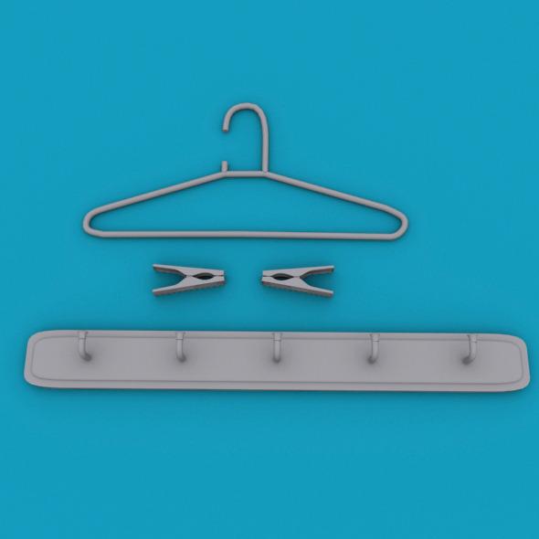 cloth hanger - 3DOcean Item for Sale