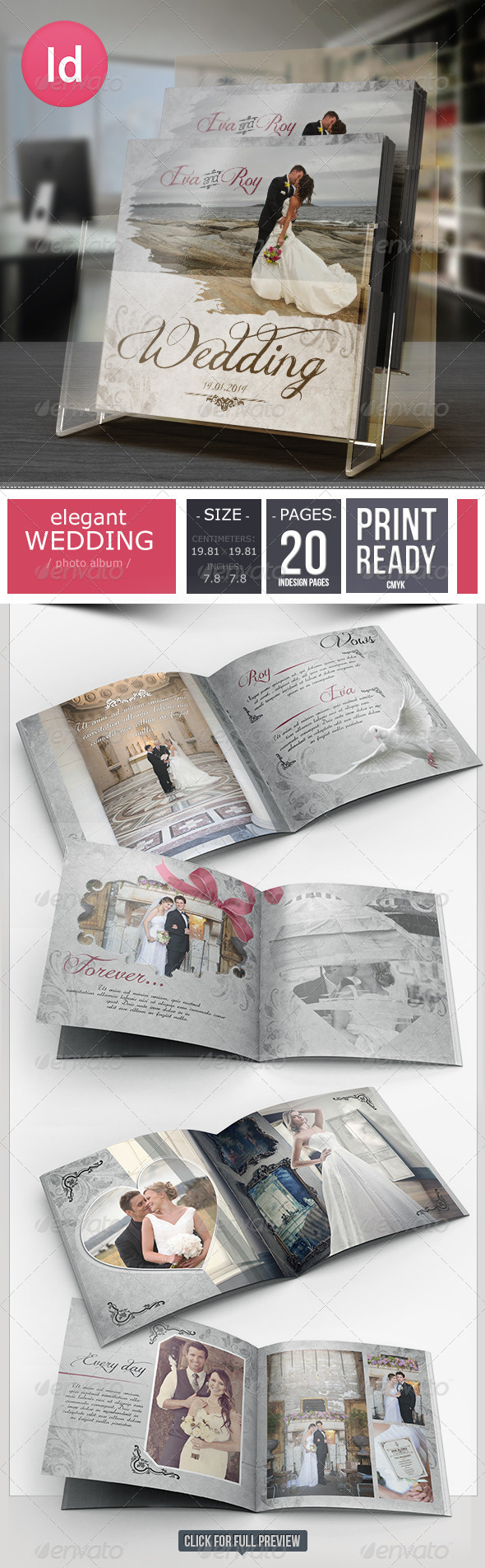 GraphicRiver 20 Pages Elegant Wedding Photo Album 6555058