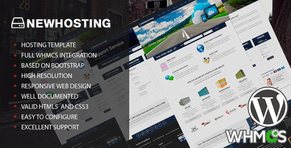 ThemeForest NewHosting Responsive Hosting WordPress Theme 6341169