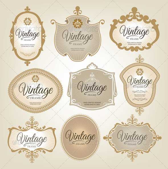 GraphicRiver Vintage Frame Set 6555190