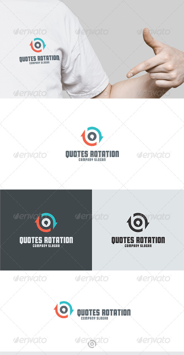 Quotes Rotation Logo - Vector Abstract