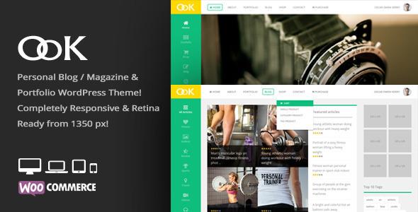 ThemeForest OoK Personal Blog Magazine & Portfolio Theme 6555323