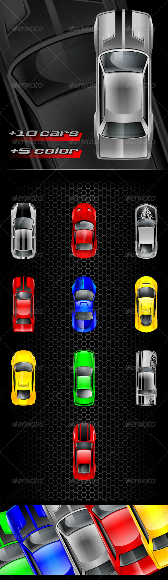 Car Game Custom Collection - Sprites Game Assets