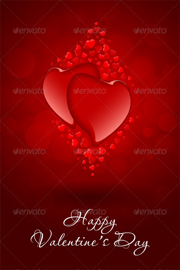 GraphicRiver Red Hearts Valentine s Day Card 6555614