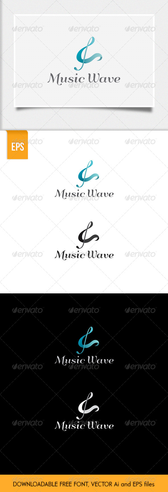 Music Wave Logo Template