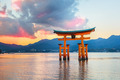 Great floating gate (O-Torii) on Miyajima island near Itsukushima shinto shrine - PhotoDune Item for Sale