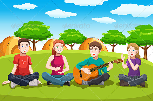 GraphicRiver Happy Teenagers Having Fun 6556035