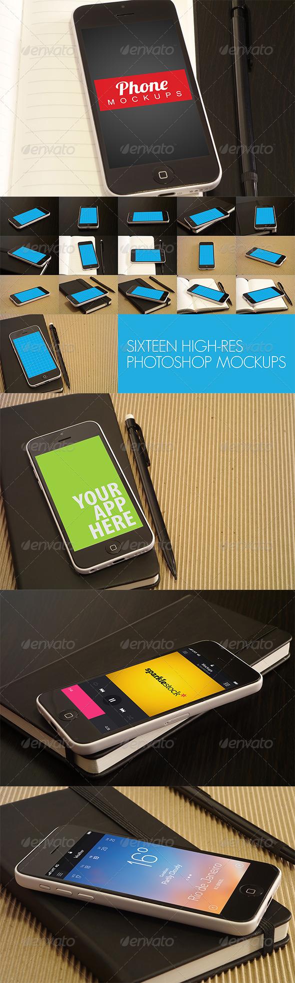 GraphicRiver 16 Phone Mockups 6556049