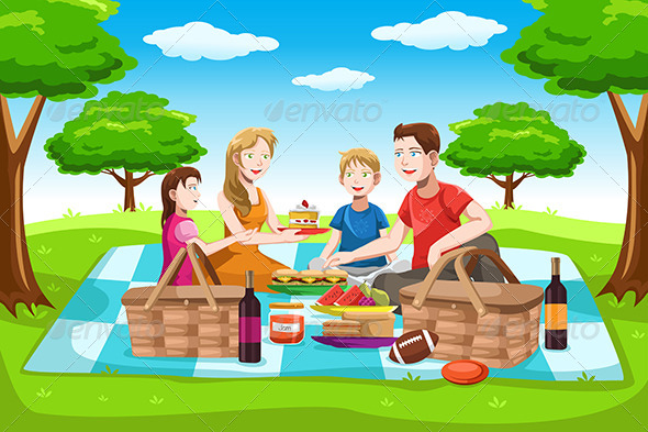 GraphicRiver Family Picnic 6556067