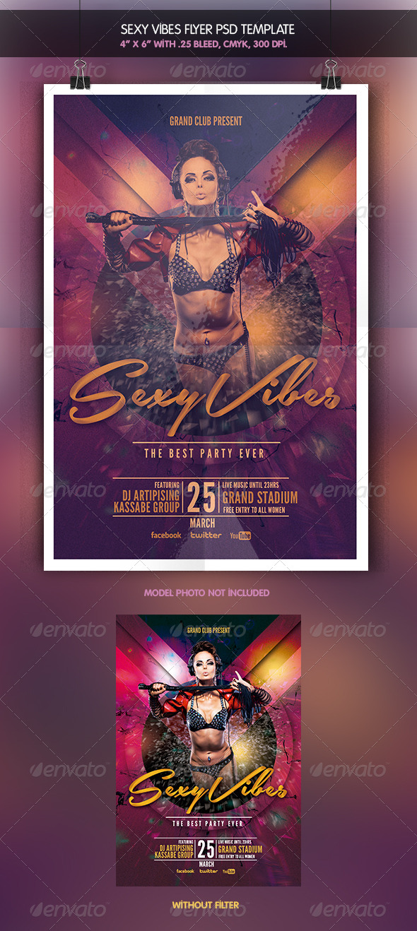 Sexy Vibes | Flyer Template - Clubs & Parties Events