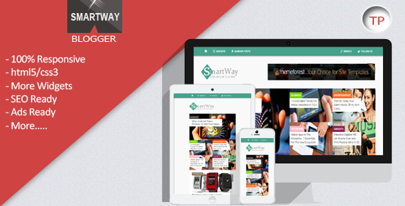 01 preview.  large preview SmartWay   Responsive Blogger Template (Blogger)