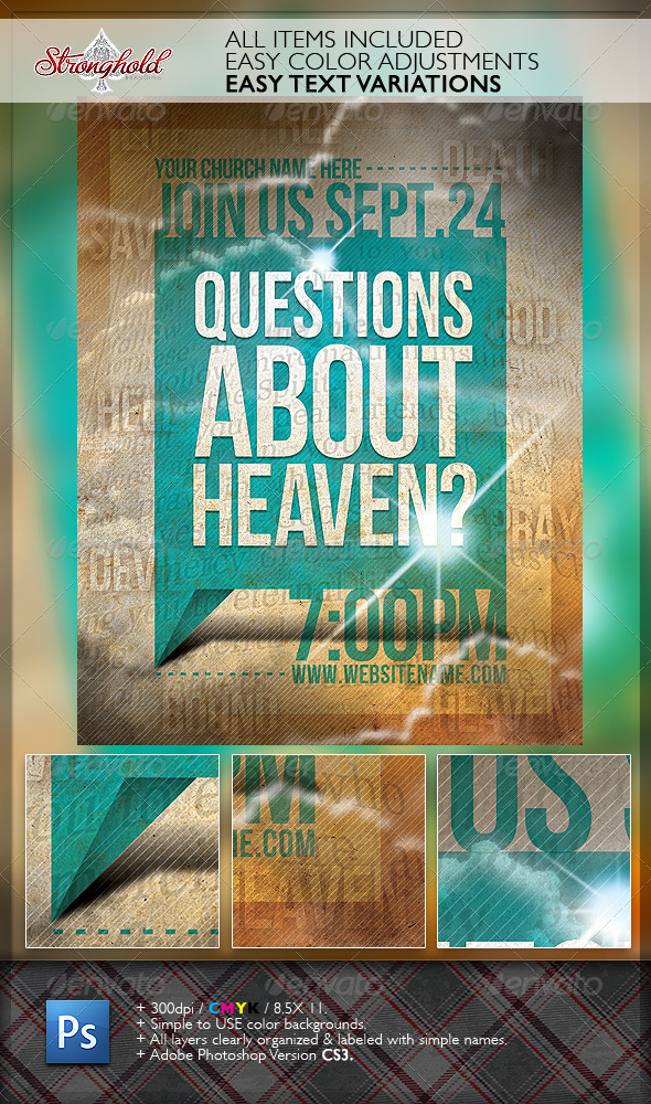 GraphicRiver Question s About Heaven Flyer Template 6556185