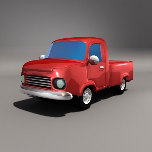 3DOcean Cartoon Pickup Car 6556303