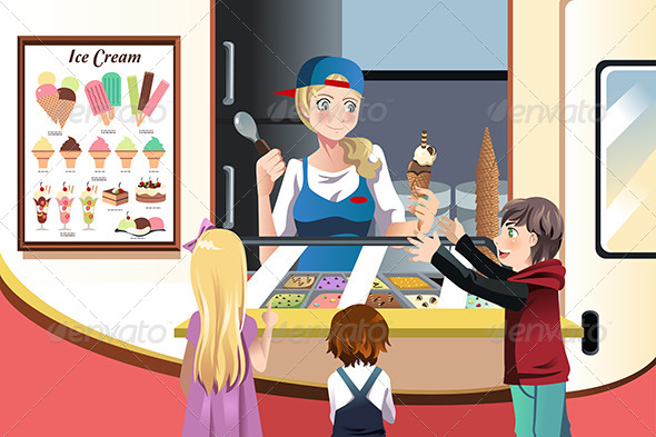 GraphicRiver Kids Buying Ice Cream 6556305