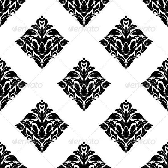 GraphicRiver Repeat Seamless Floral Pattern 6556547