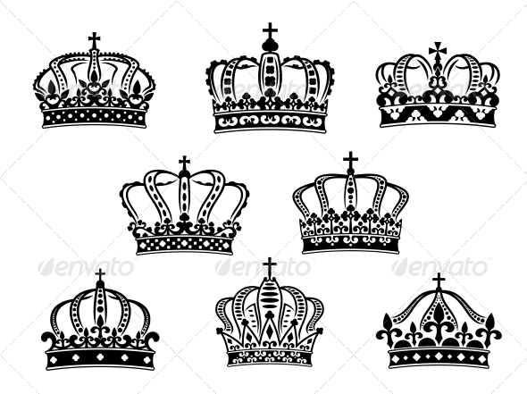 GraphicRiver Collection of Heraldic Royal Crowns 6556552