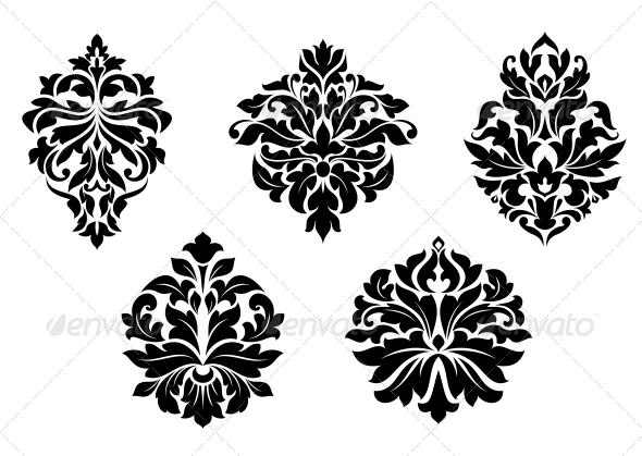 GraphicRiver Damask Design Elements 6556553
