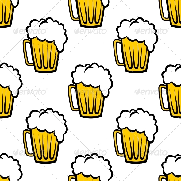 GraphicRiver Beer Seamless Pattern 6556639