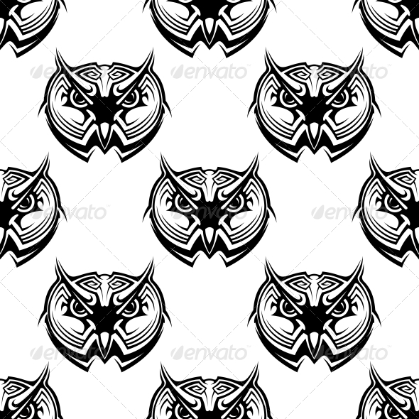 GraphicRiver Seamless Pattern of Wise Old Owls 6556645