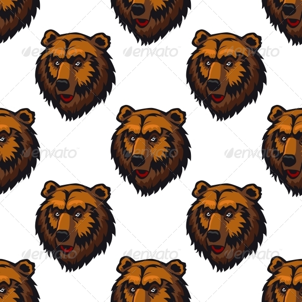GraphicRiver Bear Seamless Pattern 6556649