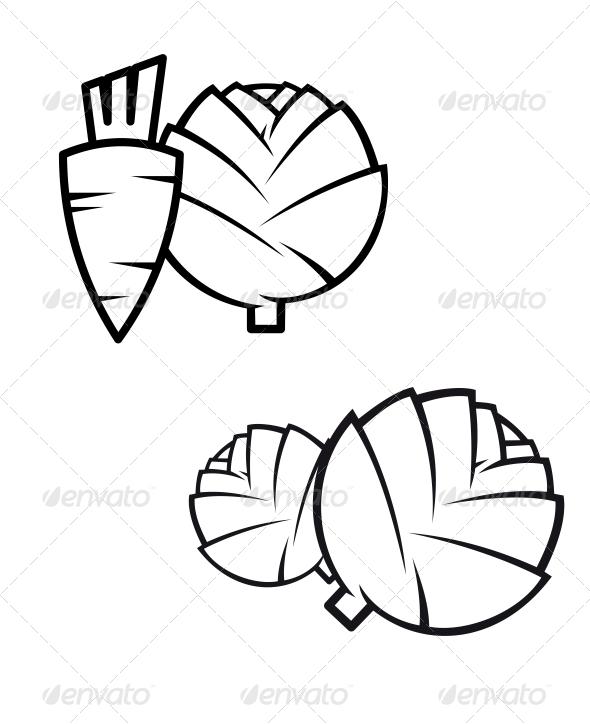GraphicRiver Carrots Cabbage and Artichokes 6556668