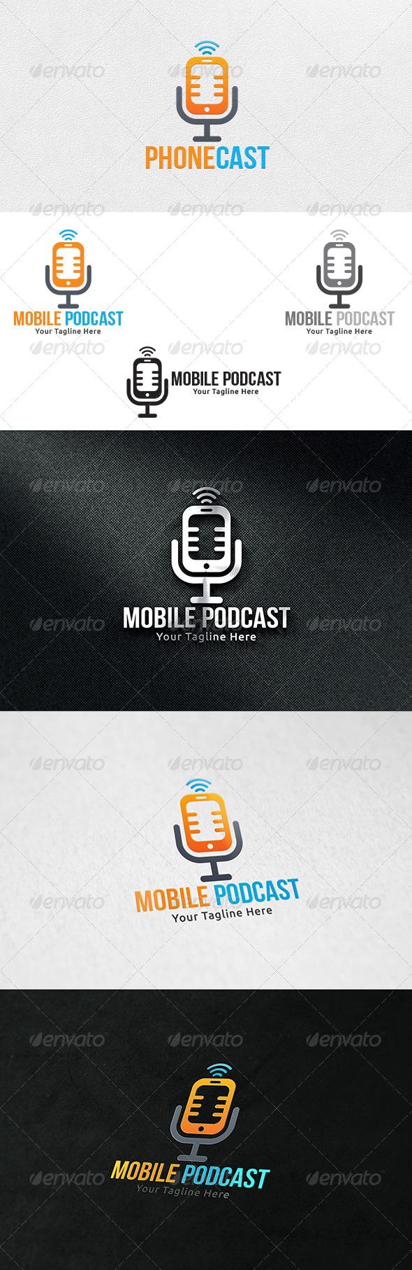 GraphicRiver Mobile Podcast Logo Template 6556932