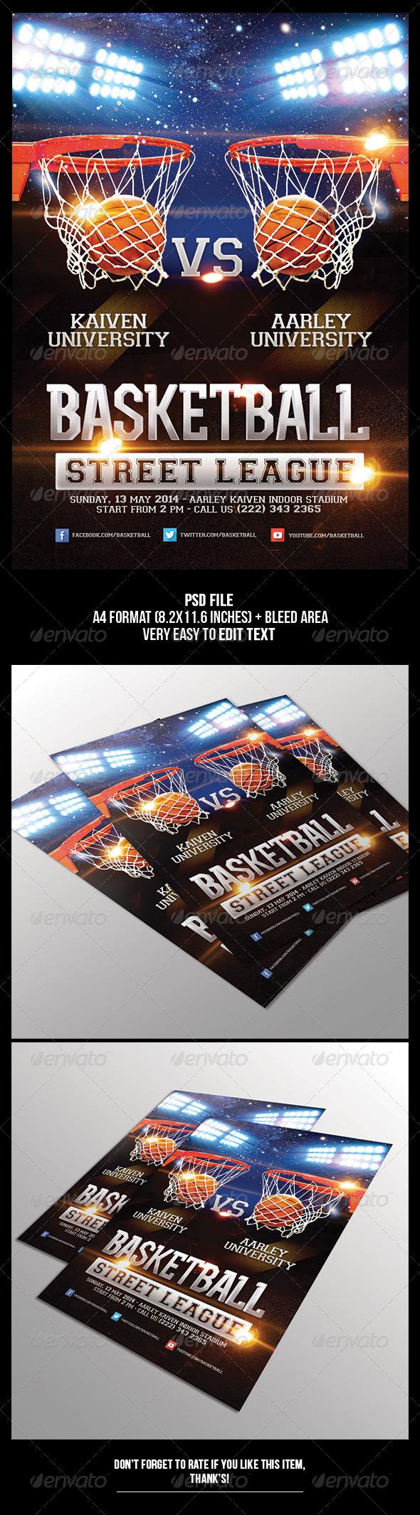 GraphicRiver Basketball Game Flyer 6534573