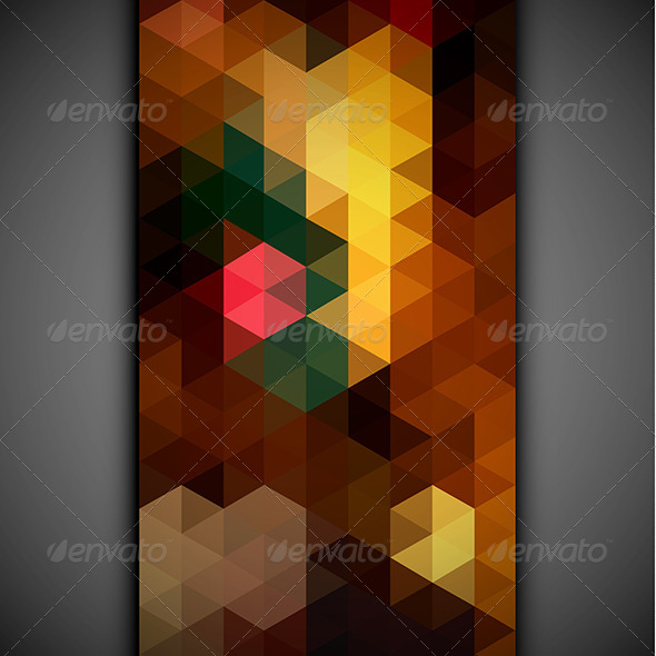 GraphicRiver Colorful Triangles Pattern Banner 6557432
