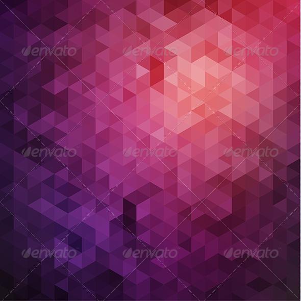 GraphicRiver Purple Triangles Background 6557446